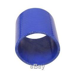 12Pcs 28x7x2.5 Front Mount Intercooler BLUE COUPLER/PIPING KIT/T-Bolt CLAMPS