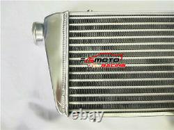 24.5x10x2 Front Mount UNIVERSAL ALUMINUM TURBO INTERCOOLER 2.25 IN/OUTLET