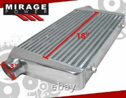 25 X 11.75 X 3 High Flow FMIC Turbo Intercooler For Lexus IS300 GS300 SC400