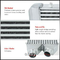 25x11x2.75 Same Side FMIC Performance Racing Front Mount Intercooler System