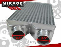 27.5 x 11 FMIC Front Mount Turbo Intercooler 2.5 Same Side Inlet Outlet