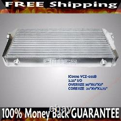 2 1/4 or 2.25 inlet & outlet Front Mount Intercooler Overszie 30 X 12 X3