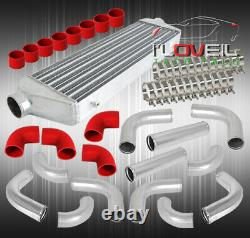 2.5 12 Pcs Piping Kit + Coupler + T-Bolt Clamps + Turbo Front Mount Intercooler