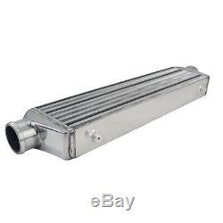 2.5 Inlets Universal Aluminum Front Mount Turbo Intercooler Kit 50014065mm