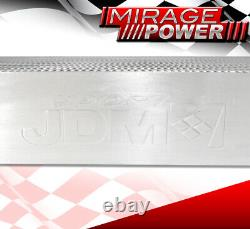 30X11X3 JDM Custom Twin Core Dual In/Outlet Front Mount Intercooler For Chevy