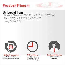 30x11x3 Front Mount Aluminum Intercooler FMIC Twin SameSide 2.5 Inlet Outlet