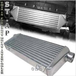 31X11.5X3 Fmic Bar & Plate Front Mount Turbo Aluminum Intercooler Chrome