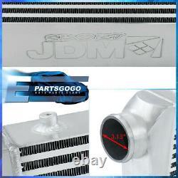31x11.75x3 Universal Front Mount Big Racing Aluminum Intercooler Bar & Plate