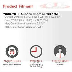 35x103.25 Front Mount Aluminum Turbo Intercooler For 2008-2011 Subaru WRX STI
