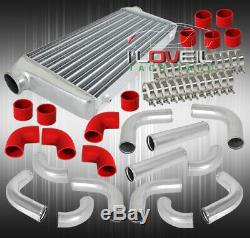 3 12 Pcs Piping Kit + Red Coupler + T-Bolt Clamp+ Turbo Front Mount Intercooler