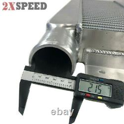 Aluminum 2.5I/O 1 SIDE Front Mount Intercooler 24x11x3 for EclIpse Talon DSM