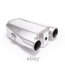 Aluminum Bar & Plate Front Mount Water-To-Air Universal Intercooler Inlet/Oulet