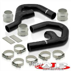 Aluminum Intercooler Piping Kit Blk For 2006-2010 VW Golf Mk5 GTI / Audi A3 2.0T