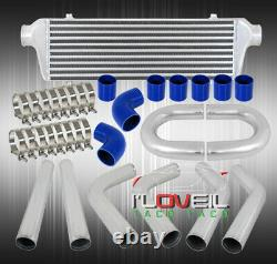 Bar/Plate Fmic Front Mount Intercooler + 2.5 Piping Kit + Blue Couplers + Clamp