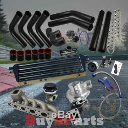 Black Intercooler Piping Couplers Turbo Kit for BMW M3 E36, E46 2.5, 2.8, 3.0L