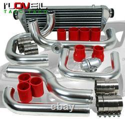 Bolt-On Turbo Front Mount Intercooler Polish Piping Kit For Civic Eg/Ek/Integra