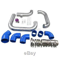 CX Front Mount Intercooler Piping Kit For 93-02 Camaro LT1 LS1 Single Turbo Blue