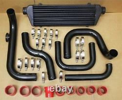 Civic EG Bolt on Turbo Front Mount Black Intercooler Piping Kit With S/RS Flange