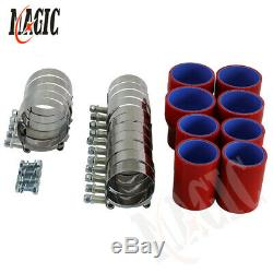 Fits 98-05 Jetta Golf 1.8T Bolt On Front Mount Intercooler Piping Kit Red Hose