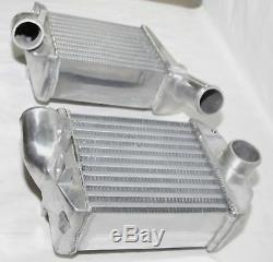 For 00-02 Audi S4 Base Sedan 4D 2.7L B5/C5 Front Side Mount Bi-Turbo Intercooler