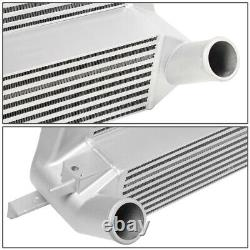For 15-19 Ford Mustang 2.3l Ecoboost Stepped Bar & Plate Front Mount Intercooler