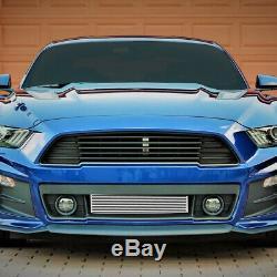 For 2015-2019 Mustang 2.3l Ecoboost Aluminum Bar & Plate Front Mount Intercooler