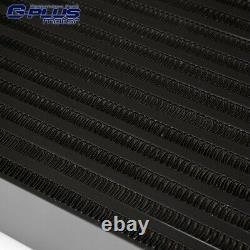 For Impreza WRX 2008-2014 EJ25 Black Top Mount Intercooler Upgrade Bolt On