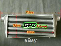 Front Mount Intercooler 600 x 300 x 76mm Core Universal 3 Inch In/Outlet GPI