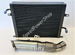 Front Mount Intercooler+Catless Downpipe For BMW B58 340i 440i M140i/240i F22F30