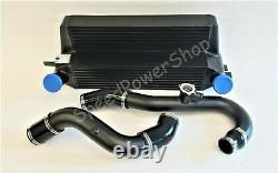 Front Mount Intercooler+Charge Pipe Kit For Ford Mustang Ecoboost 2.3L 2015+