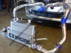 Front Mount Intercooler Kit +BOV For 4th Generation 2011+ Subaru Impreza WRX STi
