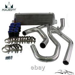 Front Mount Intercooler + Piping Kit Fits 98-05 VW JETTA Golf GTI 1.8T Black