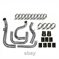 Front Mount TURBO INTERCOOLER PIPING+COUPLER Kit Fits Civic Integra Del Sol
