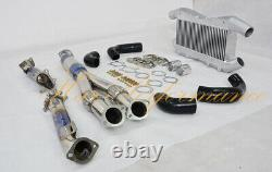 High performance front mount intercooler + Y pipe + downpipe for Nissan GTR R35