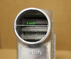 JDM 31x12x3 Intercooler 3 inlet & outlet 600HP Universal Front Mount Billet