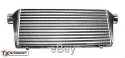 Large Alloy Front Mount Universal Turbo Intercooler With 2.5 63mm Outlets