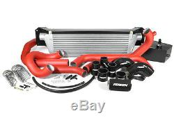 Perrin Front Mount Intercooler 2015-2017 STi Silver Core withRed Piping