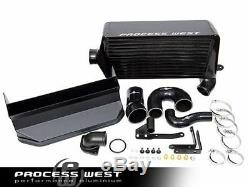 Process West Verticooler Top Mount BLACK Intercooler For 2008 2014 Subaru WRX