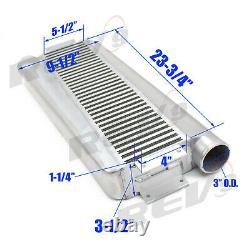 Rev9 Universal Type Z Front Mount Aluminum Intercooler Bar &plate, 3 In/out