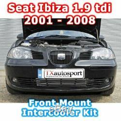 Seat Ibiza 1.9 Tdi Lower Front Mount Intercooler Kit 2001 2008 Black