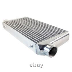 Silver Universal 3'' Outlet/Inlet Bar&Plate Front Mount Intercooler 600x300x76mm