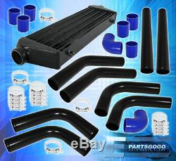 Turbo Front Mount Intercooler + Beaded Flared Piping Kit + Couplers + T-bolt Kit