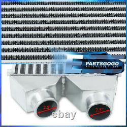 Twin In/Out Universal Intercooler For Turbocharger / Supercharger (30x11x3)