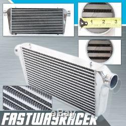 Universal 24''x12''x3'' Turbo FMIC Aluminum Front Mount Intercooler 3.0'' Inlet