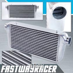 Universal 24''x12''x4'' Turbo FMIC Aluminum Front Mount Intercooler 3.0'' Inlet