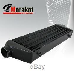 Universal 27.5 Intercooler Black+2.5 inch 8 Piece Aluminum Piping Kit Blk/Red