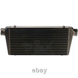 Universal 3'' Outlet/Inlet 600x300x76mm Bar&Plate Front Mount Intercooler Black