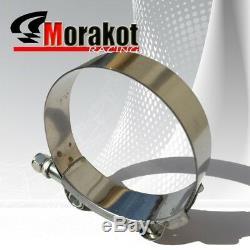 Universal Auto 2.5 8Pcs Aluminum Piping Kit Black/Red+Turbo 27.5 Intercooler