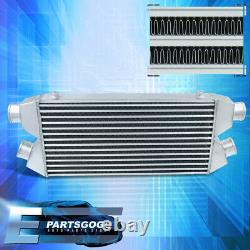 Universal Front Mount Turbo Intercooler Fmic Twin Core 30x11x3 Bar Plate