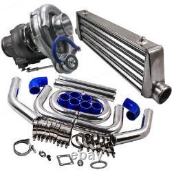 Universal T3/T4 T04E Turbo Charger Kit + 27x7x2.5 Intercooler + 2.5 Turbo Pipe